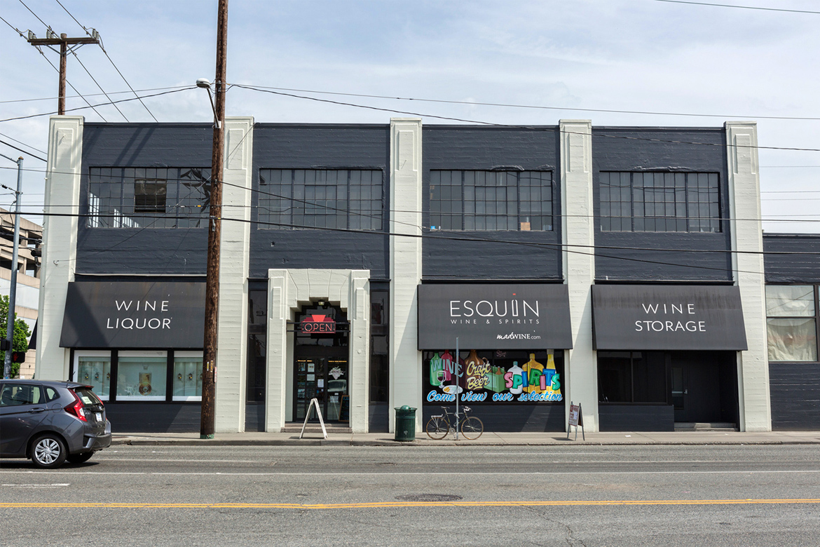 Esquin and Overall Buildings - Front Exterior - InSODO Seattle